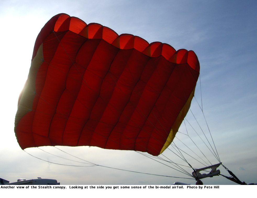 Stealth Canopy bi-modal ... & Jeff Wraggu0027s Skying History